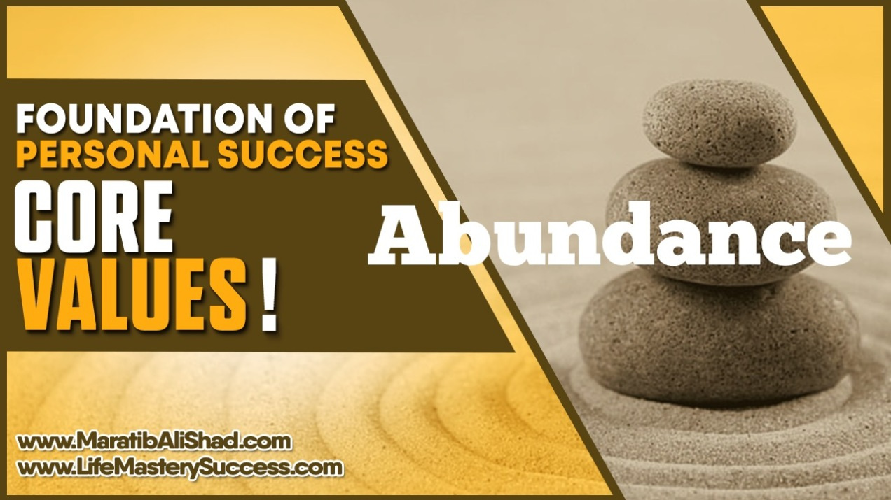 Abundance mentality is a paradigm